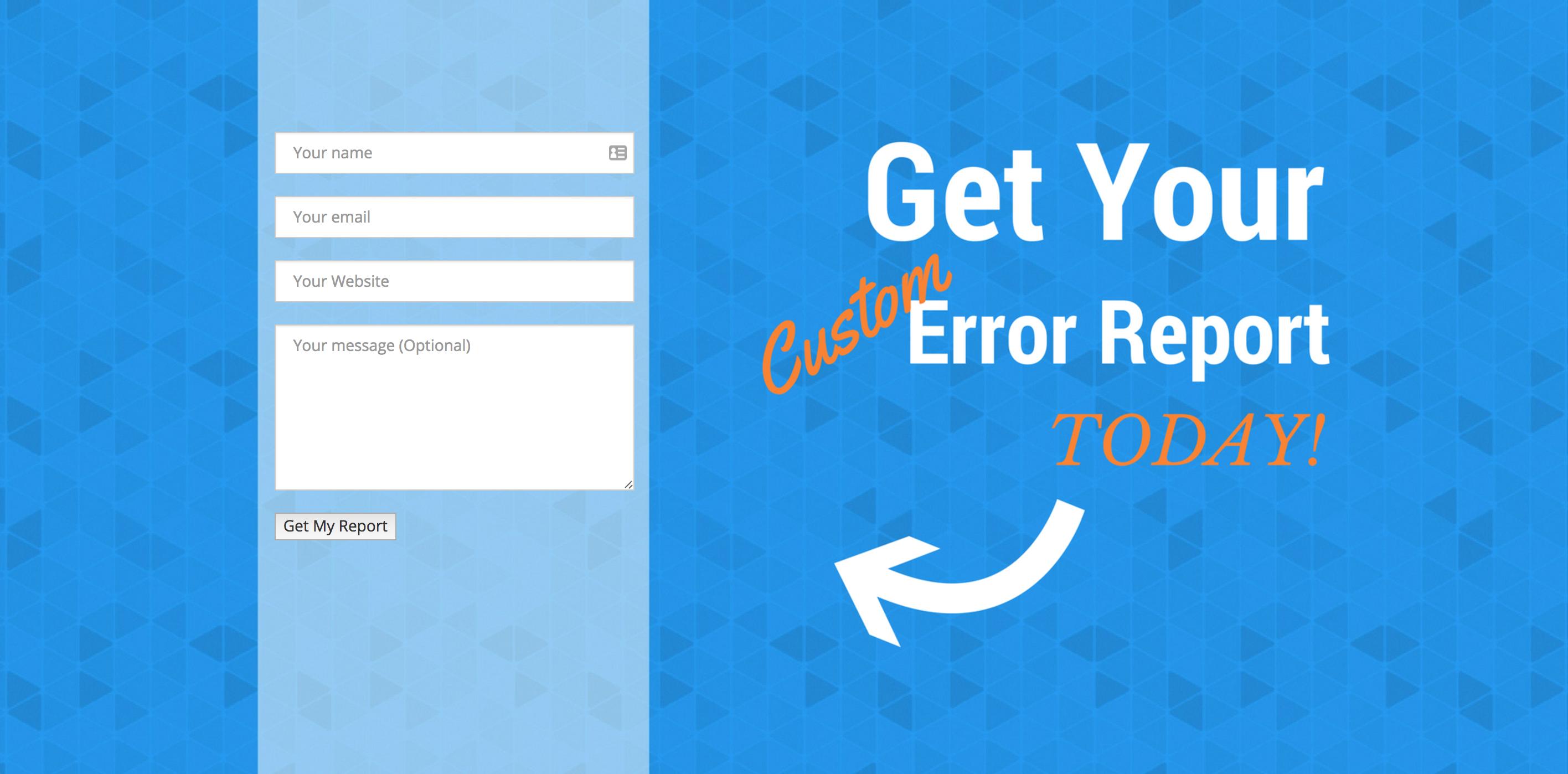 Get a Custom SEO Error Report!